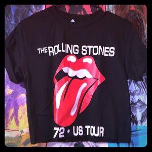 The Rolling Stones crop top.